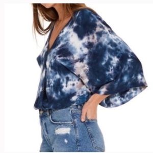 Young Fabulous And Broke Tie Dye V Neck Blouse